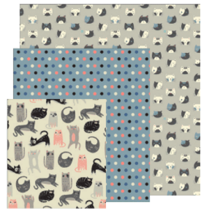 Danica Beeswax Wraps Cats Set of 3