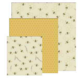 Danica Beeswax Wraps Bees Set of 3