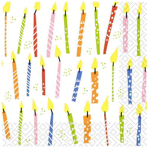 OCD Napkin Lunch Paper Birthday Candles