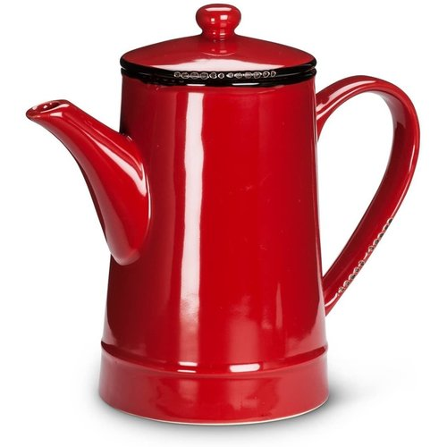 Abbott Pot Tall 36oz Enamel Look Red