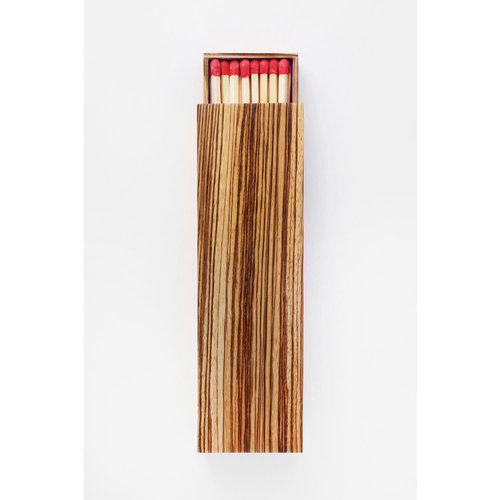 ADC GLAZE Handmade matchbox Zebrawood Large