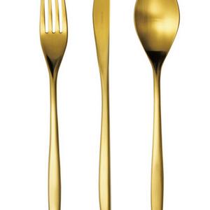 United Giftware CUTLERY SET 16 pcs VINCI GOLD - Made in Portugal - HERDMAR