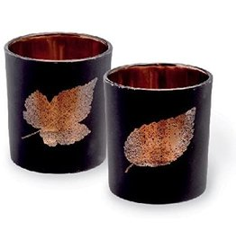 Carsim Black Leaf Tealight Holder