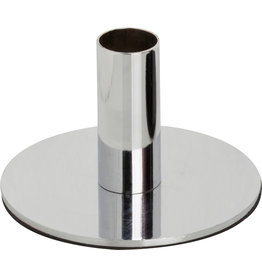 Carsim Candle Holder Metal - Silver 6.5 cm