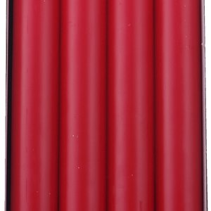 "Carsim Stearin Candles 10"" set/8 RED"