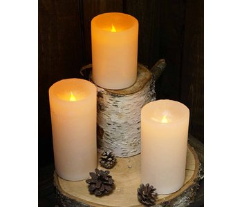 """Pillar Candle 2.75"""" x 4"""" LED  RED"""