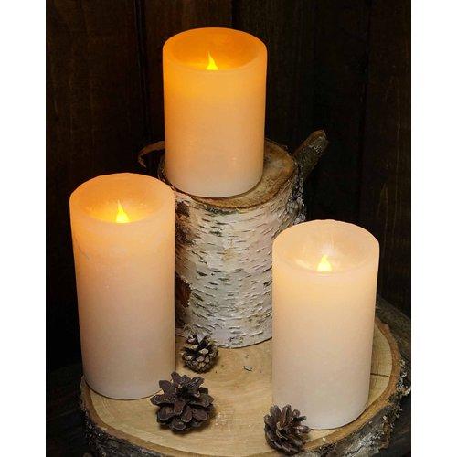 "Carsim Pillar Candle 2.75"" x 4"" LED  RED"