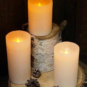 "Carsim Pillar Candle 2.75"" x 5"" LED  RED"