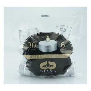 Carsim Tealight 6hr 30pcs White