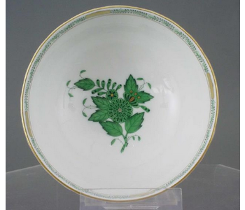 Cereal Bowl Chinese Bouquet Design Green 16 x 5 cm HEREND
