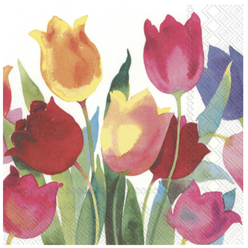 Carsim Napkin Cocktail Paper POWERFUL TULIPS