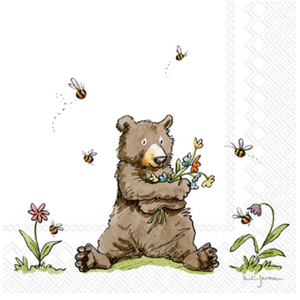 Carsim Napkin Lunch Paper HONEY BEAR