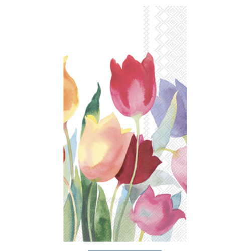 Carsim Napkin/Guest Towel Paper POWERFUL TULIPS