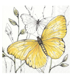Carsim Napkin Lunch Paper COLOURFUL BUTTERFLIES Yellow