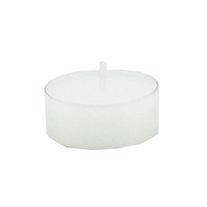 Carsim Tealight clear cup white TUB OF 20
