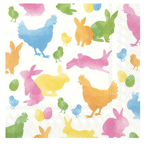 IHR Napkins Lunch Paper Colourful Rabbits