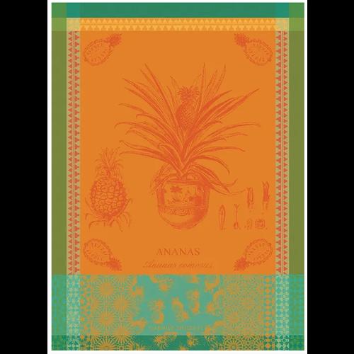 Garnier Thiebaut Garnier Thiebaut Tea Towel Ananas en Pot Jaune Soleil