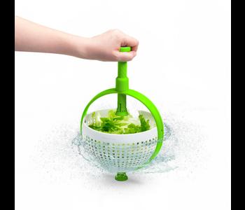 DREAMFARM Spina Colander/Salad Spinner Green & White