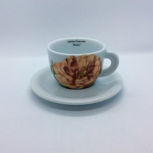 Ancap Cappuccino Cup and Saucer Rose Bonica '82 by D'Ancap