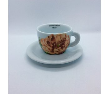 Cappuccino Cup and Saucer Rose Bonica '82 by D'Ancap