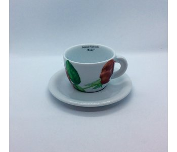 Cappuccino Cup and Saucer Rose Hidalgo by D'Ancap