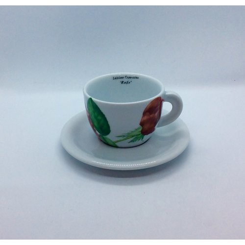 Ancap Cappuccino Cup and Saucer Rose Hidalgo by D'Ancap