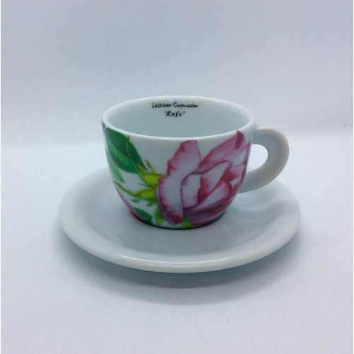 Ancap Cappuccino Cup and Saucer Rose Princess de Monaco by D'Ancap