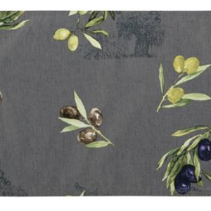 Texstyles Deco Primo Olive Grey Placemat 13x19 inches