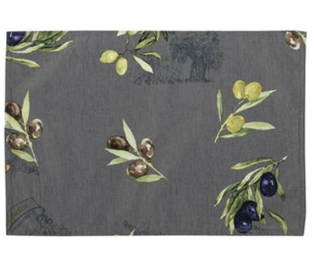 Primo Olive Grey Placemat 13x19 inches