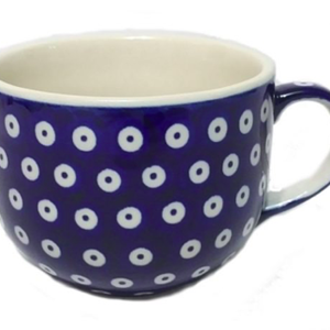 Polish Pottery Cappucino / Soup mug 500mL POLKA DOT