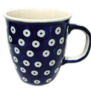 Polish Pottery Mug Bistro 300mL POLKA DOT