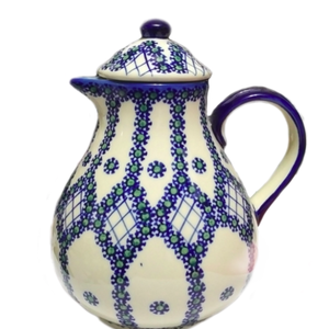 Polish Pottery Coffee / Tea Pot 1.5L Unique Design Polish Potters