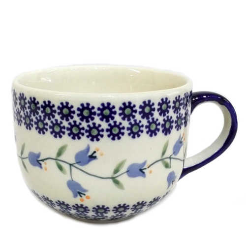 Polish Pottery Cappucino / Soup mug 500mL TRAILING LILY Polish Pottery