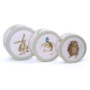 Wrendale CAKE TIN NEST - HARE/DUCK/OWL