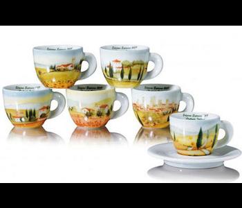 CONTRADA Italiane Espresso Cup and Saucer