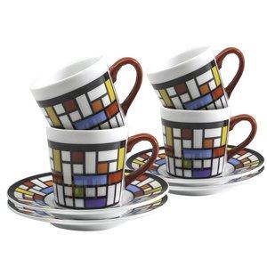 BIA Espresso Cup & Saucer Mosaic