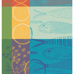 Garnier Thiebaut Garnier Thiebaut Tea Towel Poisson Aug Citron Ete 56