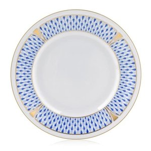 Herend Bread and Butter Plate Art Deco Blue