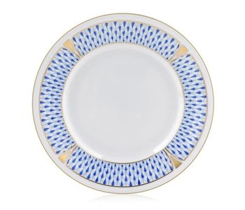 Bread and Butter Plate Art Deco Blue