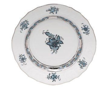 Bread and Butter Plate Chinese Bouquet Turquoise Platinum
