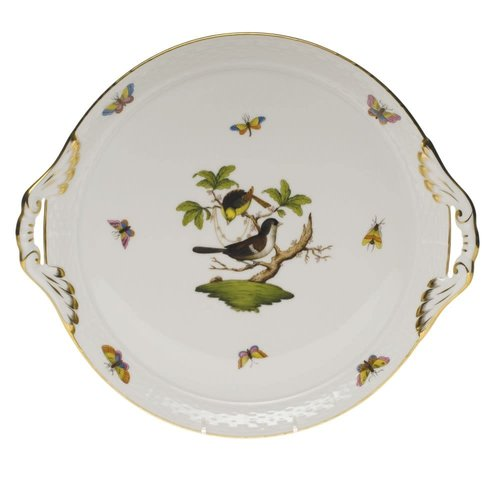 Herend Cake Plate Rothschild Bird