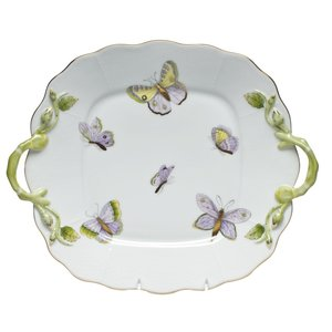 Herend Cake Plate Royal Garden Butterfly