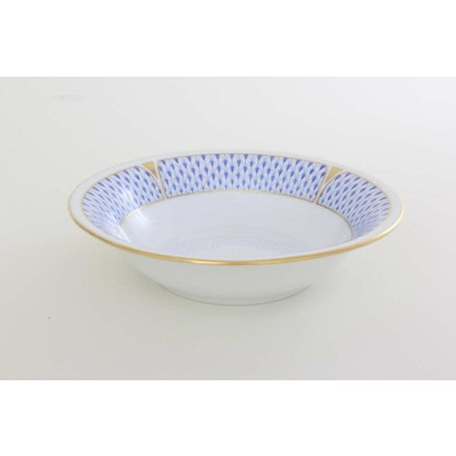Herend Cereal Bowl Art Deco Blue