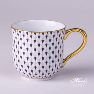 Herend Coffee Mug Fishnet Black