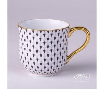 Coffee Mug Fishnet Black