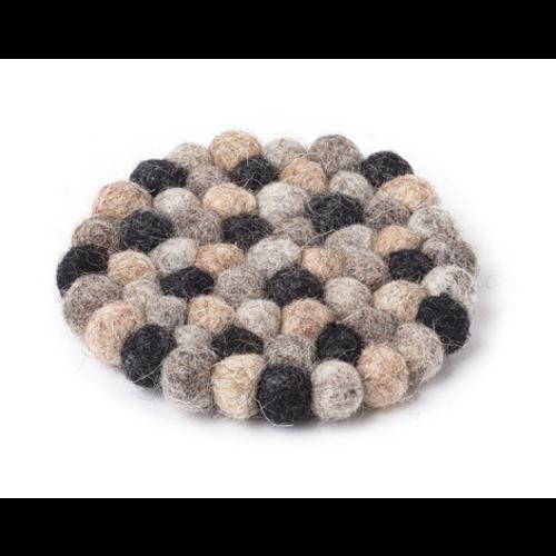 "Abbott Coaster Felt Ball - Taupe- 4"""
