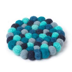 "Abbott Coaster Felt Ball - Blue - 4"""