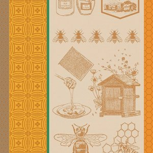 Garnier Thiebaut Garnier Thiebaut Tea Towel Ocre Miel et Arbeilles
