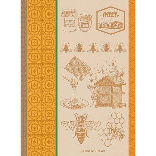 Garnier Thiebaut Garnier Thiebaut Tea Towel Greens Miel et Arbeilles