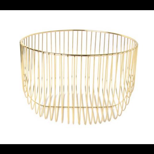 Carsim Round Wire Basket - GOLD - LARGE 25cm x 16cm